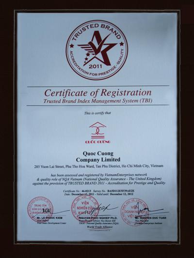 QUOC CUONG CONSTRUCTION TRADING CO., LTD